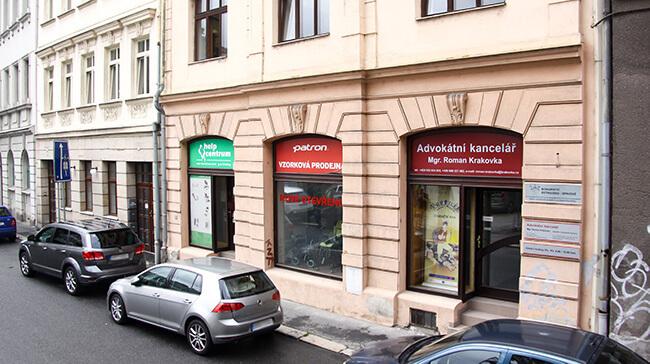 Advokátní kancelář Krakovka – Vchod z ulice